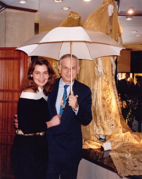 Julia and I, under a genuine platinum umbrella, in 1991